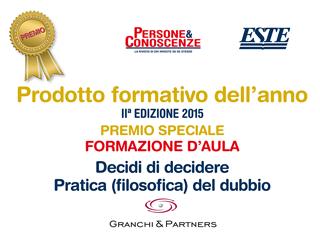 Cover Prodotto formativo dell'Anno 2015